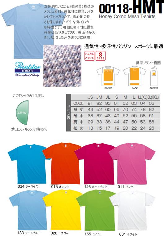 オリジナルTシャツプリント用ハニカムメッシュ